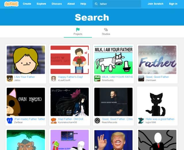 震惊!孩子用Scratch少儿编程制作的父亲节贺卡-少儿编程教育网