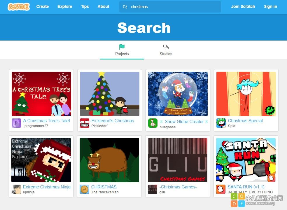 2017圣诞节 | 看看国外孩子们用Scratch编程做的圣诞贺卡!-少儿编程教育网