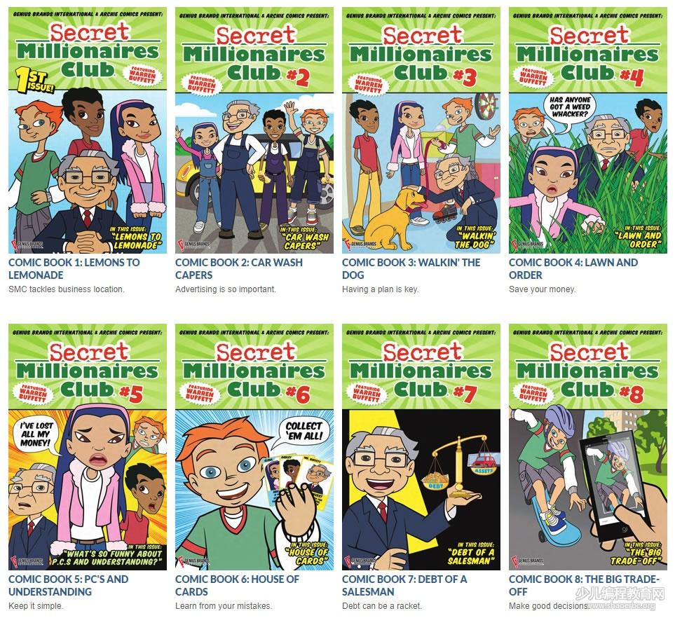 股神巴菲特亲自创作的孩子「财商」教育漫画,限时免费领取!-少儿编程教育网