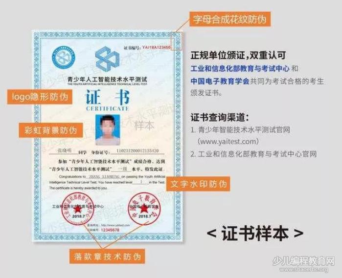 青少年AI人工智能技术等级考试来了!北京大学出题,工信部发证!-少儿编程教育网