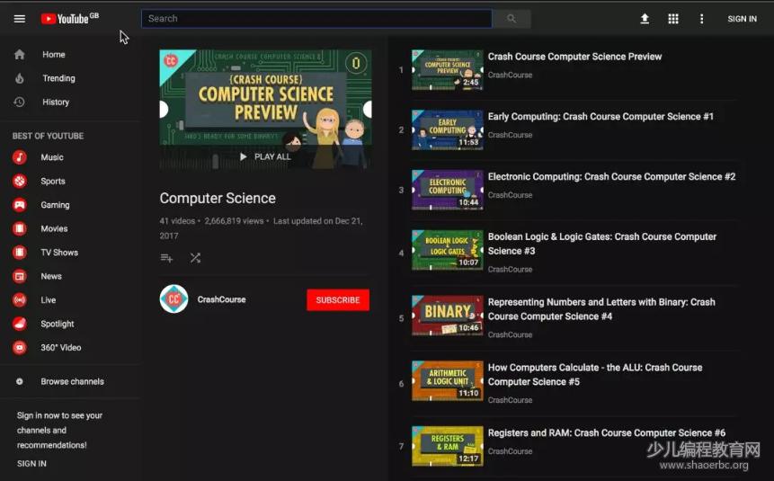 这份1000万人收藏的计算机科学速成课,快来免费领取吧!-少儿编程教育网