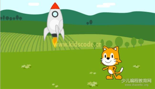 ScratchJR少儿编程启蒙教程:第四章:火箭发射升空-少儿编程教育网