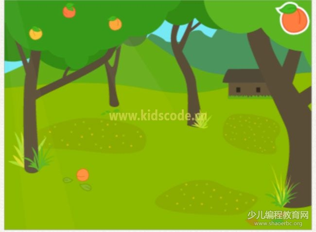 ScratchJR少儿编程启蒙教程:第四章:摘桃子的游戏
