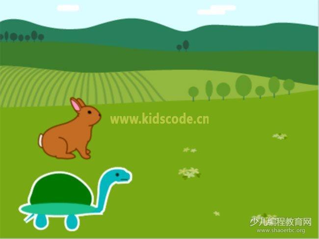 ScratchJR少儿编程启蒙教程:第三章:龟兔赛跑的故事