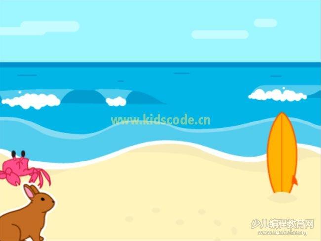 ScratchJR少儿编程启蒙教程:第三章:蟹兔赛跑故事